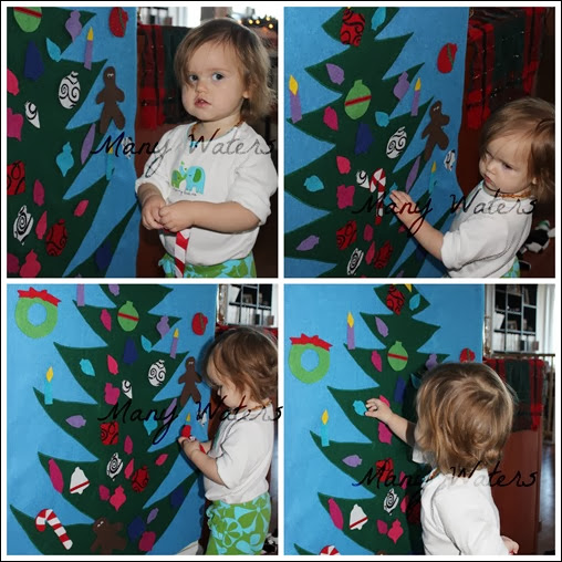 Many Waters Munchkin Playing with the Felt Tree