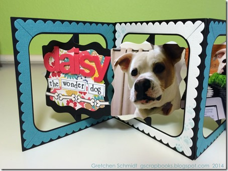 Daisy the Wonder Dog by @gscrapbooks