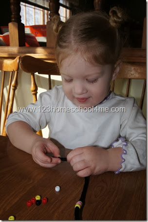 Bead Activities to Improve Fine Motor Skills