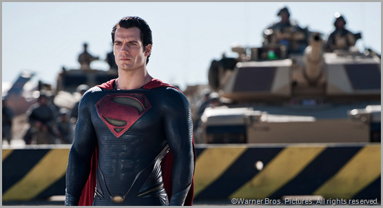 Superman (Henry Cavill) prepares to face General Zod. CLICK to visit the official MAN OF STEEL site.