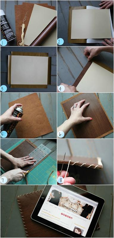 DIY Faux Wood iPad Sleeve Tutorial