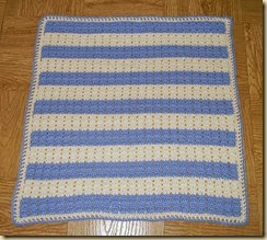 Blue and white newborn afghan