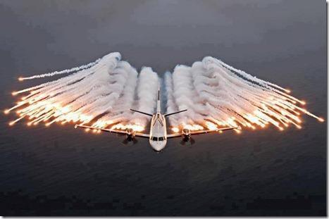 Amazing Plane Fire Work