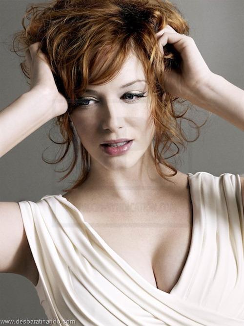 Christina Hendricks linda sensual sexy sedutora decote peito desbaratinando (17)