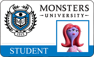 Crystal Du Bois Monsters University Student Identification Card