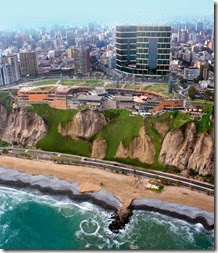 Lima Larcomar cliff