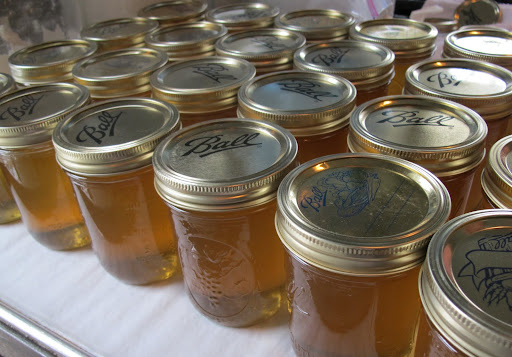 And just look at all the beautiful and delicious honey we bottled for you!  Thank you, honeybees!