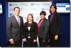los señores Eugene Rault Grullón, Claudia Zuluaga, Milagros Uriarte y Laura Mayén
