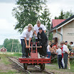 Handcars (resiina in Finnish) are available to make trips from Minkiö to Jokioinen and Humppila directions. The older handcars are such heavy to pump, but their ride is much more smoother than the newer ones.