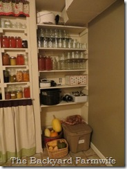 pantry shelf - The Backyard Farmwife