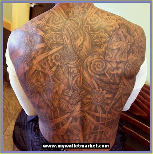 Tattoos for men cross on back for Big cross tattoos