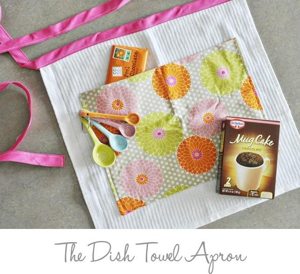 dish towel apron tutorial