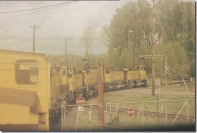 56154116-13 Riding the Weyerhaeuser Woods Railroad (WTCX) at Longview, Washington on May 17, 2005