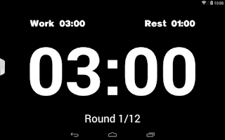 Screenshot of Boxing Interval Timer