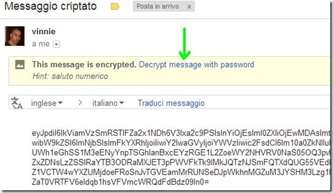 Secure Gmail email criptata