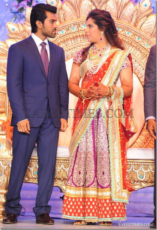 Ram_Charan_Upasaana_Wedding_Reception_Saree (2)