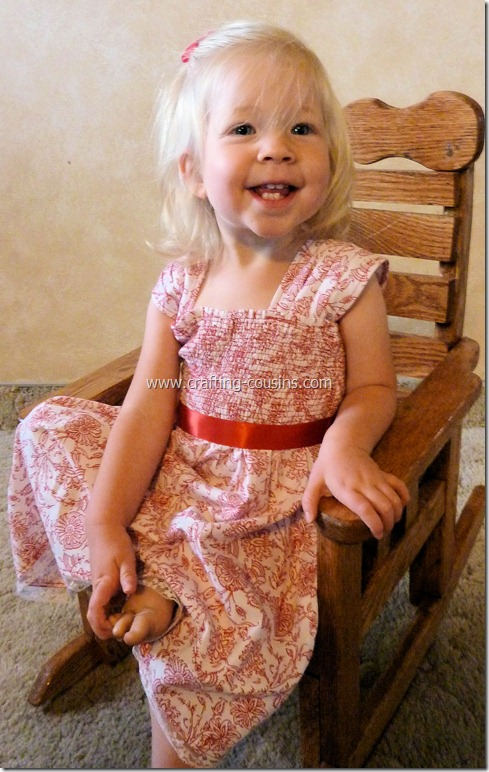 Shirred infant flower girl dress from the Crafty Cousins (48)