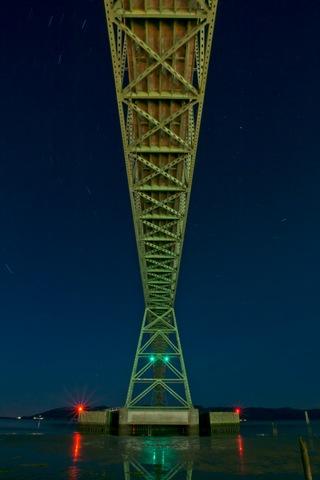 Bridge and Star Trails