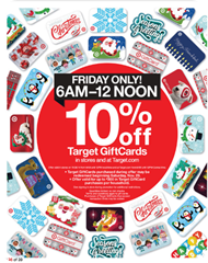 Target Black Friday GC ad