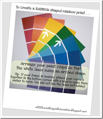 Rainbow shaped print