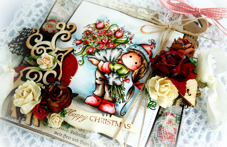 Claudia_Rosa_Tilda w christmas flowers_3