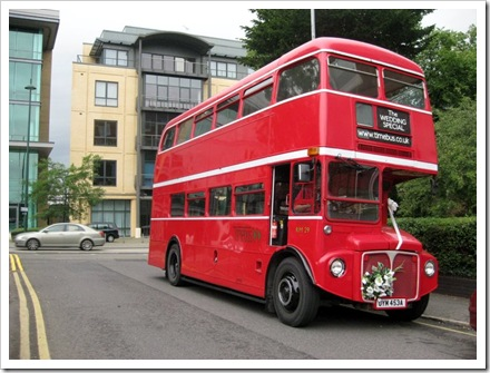 A novel use for an old Route Master London bus.