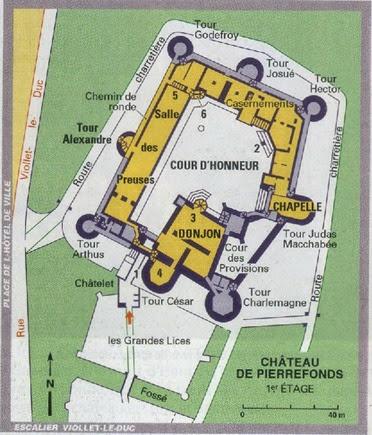plan château de Pierrefonds