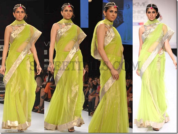 Payal_Singhal_Green_Saree