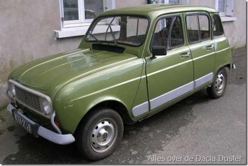 Renault 4 basis Dacia Duster