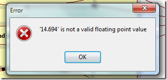 StarUML error: 14.694 is not a valid floating point value