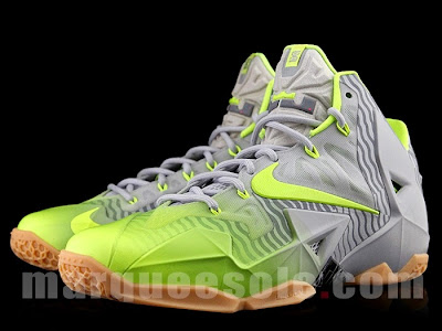 nike lebron 11 grey volt 3m 1 03 Nike LeBron 11 in Volt and Grey with Gum, Stripes and 3M