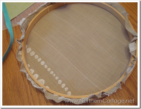 trimmed hoop art @ northerncottage