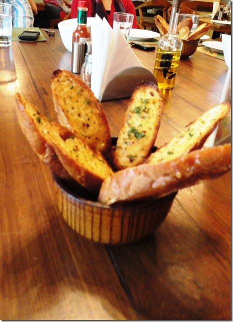 burnt garlic bread