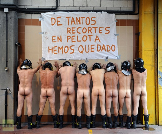SPAIN-PROTEST/FIREFIGHTERS