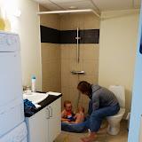 Og så blev det nye badeværelse også lige indviet.