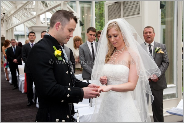 exchange of rings at the landmark hotel dundee