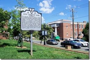 Jack Jouett's Ride - Q-17 as seen along High Street, Charlottesville, VA