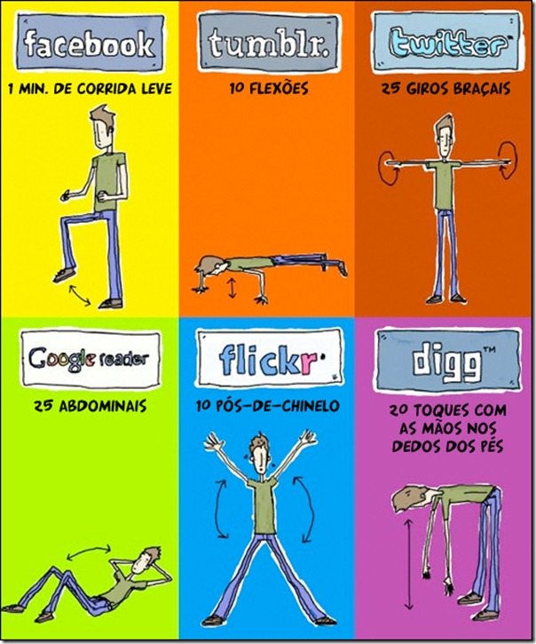 Exercicios para quem usa redes sociais