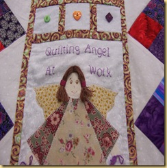 Angel quilt close up