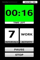 Screenshot of ProTimer Interval Timer