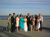 The bride and groom (Lew and Cheryl), Lew's siblings, and their families (minus my family, and one sister and her family)