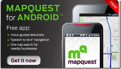 Mapquest for android phones