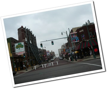 Looking up Beale St