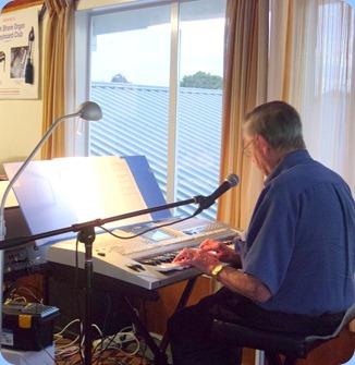Michael Bramley played and sang for us using his Yamaha PSR-910.