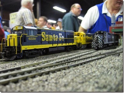 IMG_5414 Atchison, Topeka & Santa Fe U30B #6330 on the LK&R HO-Scale Layout at the WGH Show in Portland, OR on February 17, 2007