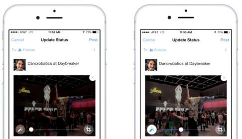 Nuevo sistema de Facebook para corregir fotos en el móvil