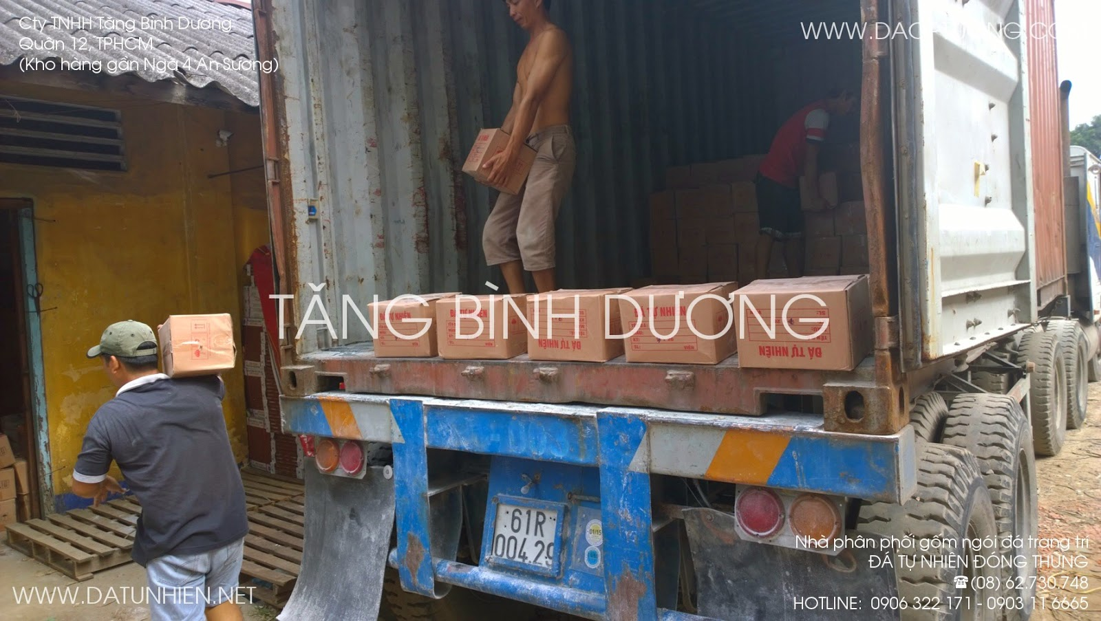 Container bỏ hàng đá tự nhiên đóng thùng