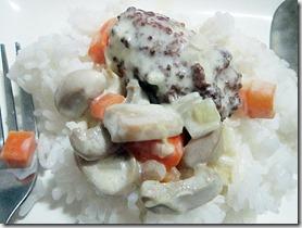 meatballs in cream sauce, 240baon