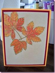 Glitter leaves 2