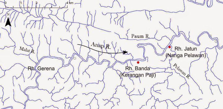 Figure 3: Map of the middle Anap River region